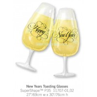 New Years Toasting Glasses 11707