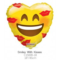 Smiley With Kisses c15695-18