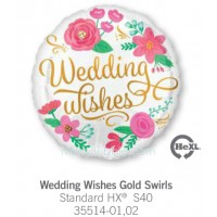 Wedding Wishes Gold Swirls 35514