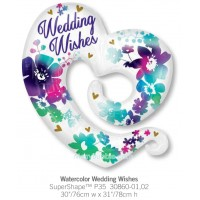 Watercolor Wedding Wishes 30860