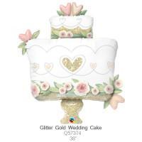 Glitter Gold Wedding Cake q57374