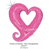 Chain Of Hearts - Pink Holographic