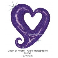 Chain Of Hearts - Purple Holographic