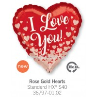 Rose Gold Hearts 36797