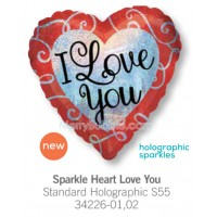 Sparkle Heart Love You