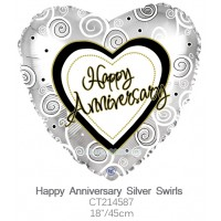 Happy Anniversary Silver Swirls ct214587