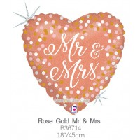 Rose Gold Mr & Mrs b36714