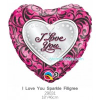 I Love You Sparkle Filigree